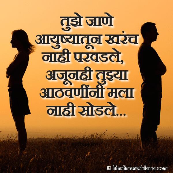 Tujhe Jane Ayushyatun Kharach Nahi Parvadale
