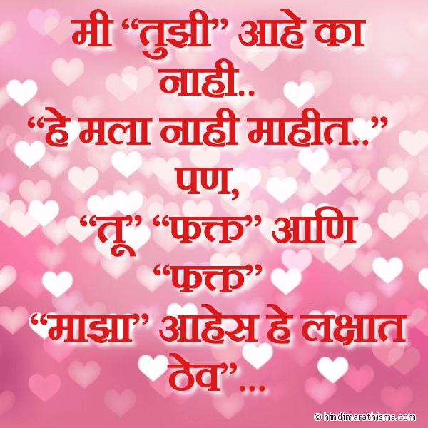 Tu Fakt Majha Aahes